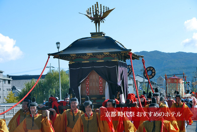 京都時代祭の鳳輦