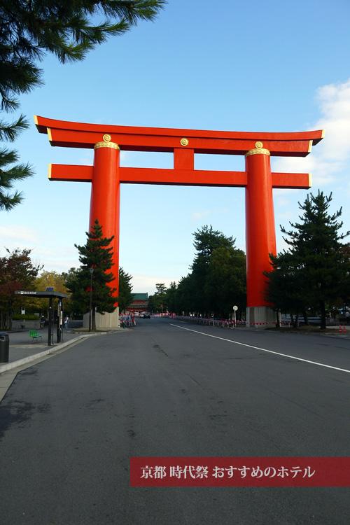京都時代祭の朝の神宮道